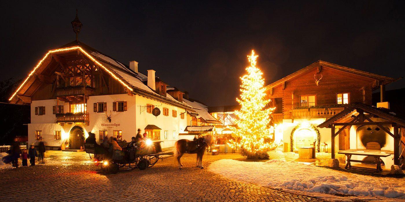 Adventmarkt & Pferdeschlittenfahrten am Winterstellgut, Annaberg-Lungötz
