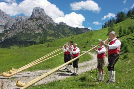 Annaberger Alphornbläser – Bauernhofurlaub im Lammertal