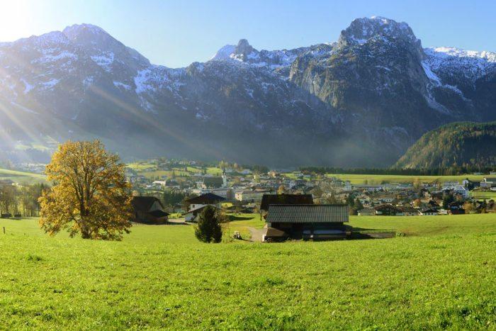 Überblick Ort Abtenau – Bauernhofurlaub im Lammertal, Salzburger Land