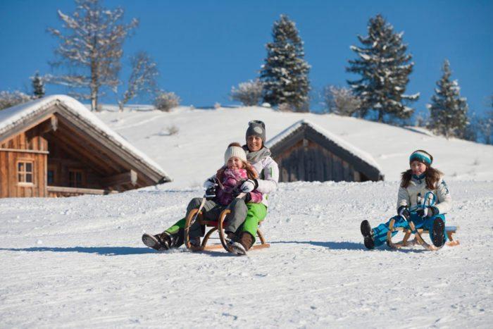 Rodeln - Winterurlaub in Abtenau, Lammertal